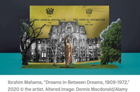 "Ibrahim Mahama, ""Dreams In-Between Dreams, 1909-1972,"" 2020 on New York Times"