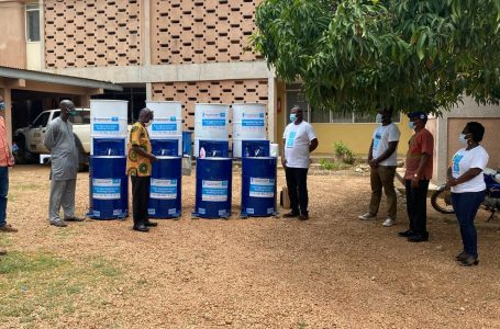WaterAid Ghana presents Foot Operated Washing Facilities to Local Assemblies