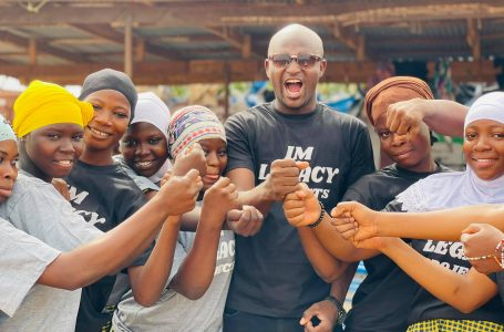 Ibrahim Mustapha helps women at Songba empowerment center